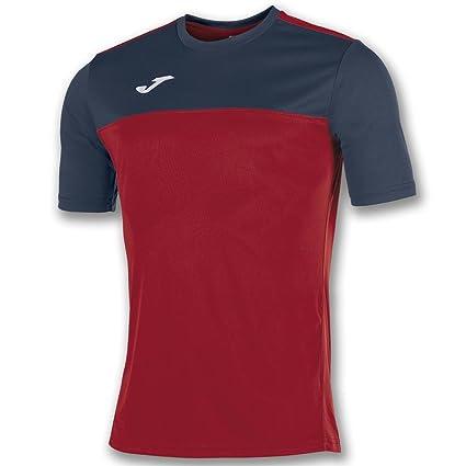 Joma Winner M/C Camiseta Equipamiento, Hombre, Rojo/Marino, S