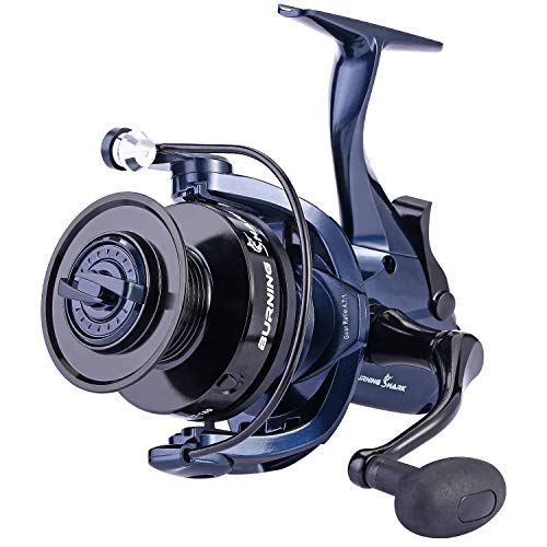 Sougayilang Baitrunner Fishing Reel,13+1BB,Spinning Reel for Catfish,Carp,Walleye,Striped Bass,with a Spare Spool ()