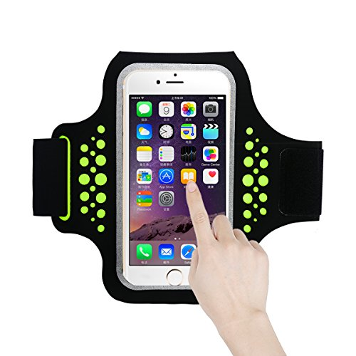 Guzack Sports Armband,Sweatproof Running Exercise Armband Phone Case Holder for Iphone X /8 Plus Samsung Galaxy Edge Plus S7 Huawei LG with Key Money Card Holder for all 5.2 - 5.8 Inch Smartphone - Edge Response Card