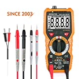 Multimeter Janisa PM18C Digital Multimeters Electric AC DC Voltage Current Resistance Tester True RMS 6000 Counts NCV Temperature Measurement Amp Ohm Volt Multi Tester with LCD Backlit