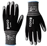 Work Gloves PU Coated-12 Pairs,KAYGO KG15P,Nylon