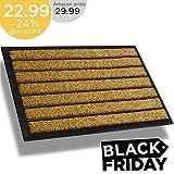 5. Extra Durable Striped Christmas Doormat Outdoor - Rubber Doormat Indoor - Non-Slip Doormat Rug (30 x 18) Back Front Doormat - Welcome Mat - Easy Clean Outdoor Doormat - Door Mat Outside/Inside