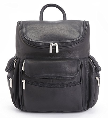 """Royce Leather Executive 15"""" Laptop Backpack Handcrafted in Colombian Leather, Black One Size"""