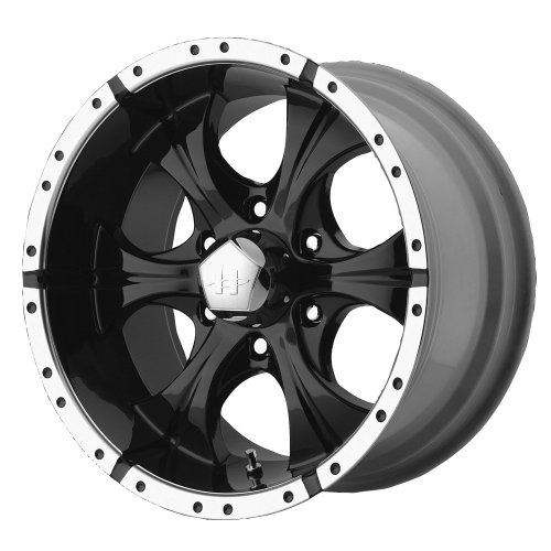 (Helo Maxx Wheel with Gloss Black Machined (15x8