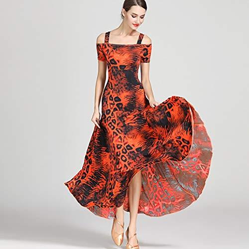 Costume Bal Costumes Danse Femmes l Manches Pour Lisse Valse Pratique Tango Moderne Jupe De Performance Les stretch Sangles Robes 1 Plus Wqwlf EwqaTBAP