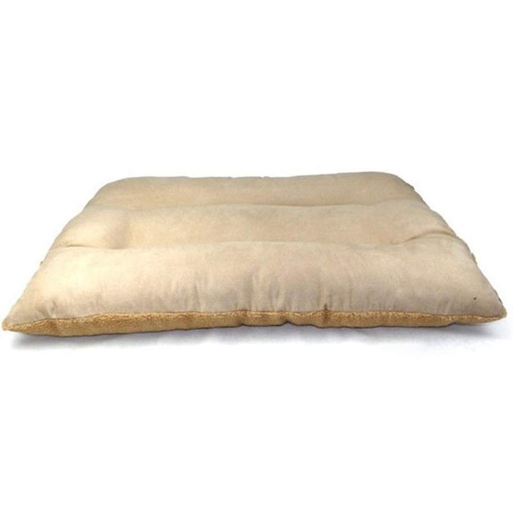 BROWN MPLDDY pet bed Extra Large Dog Bed Pet Pillow Wool 120 X 80 CM for Large Dogs, Sleep With Cypress Wool and Suede, Detachable and Washable (color   BROWN, Size   M)
