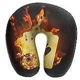 Raglan Carnegie Poker Card Fire Casino U Shaped Pillow Neck Head Cushion Support Rest Outdoors Car Office Home Travel Pillow