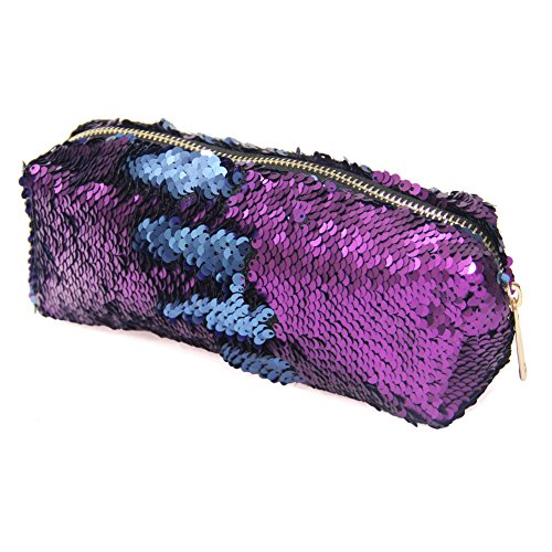 MHJY Mermaid Sequin Cosmetic Bag Magic Sequins Makeup Pouch
