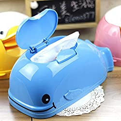 YOURNELO Creative Animal Paper Tissue Box Holder with Lid for Home (Whale)