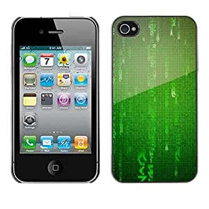X-ray Impreso colorido protector duro espalda Funda piel de Shell para Apple iPhone 4 / iPhone 4S / 4S - Numbers Mandarin Digital Virtual Sci-Fi