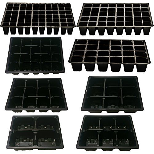 Elixir Gardens ® Full/Half Size Cell Packs 4, 6, 9, 12, 20, 24, 40, 60, 5 Strip Greenhouse Trays