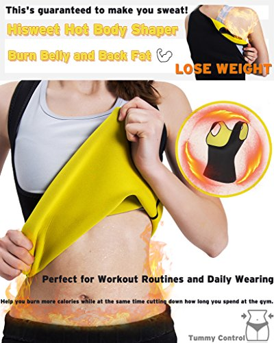 7bebd8870c9e2 Hisweet Body Shaper Sauna Suit Neoprene Sweat Weight Loss Vest for Women  Tummy Thermo Vest