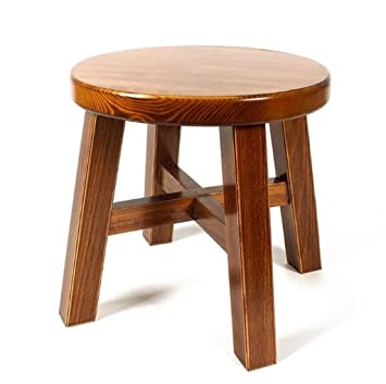 Phenomenal Amazon Com Dengzi Stool Wooden Bench Solid Wood Stool Small Caraccident5 Cool Chair Designs And Ideas Caraccident5Info
