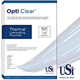 USI Opti Clear Premium Thermal (Hot) Laminating Pouches/Sheets, Menu Size, 7 Mil, 12 x 18 inches, Clear Gloss, Box of 100