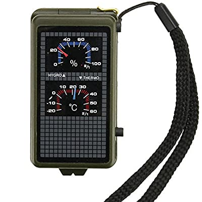 Best Survival Electronic Compass & 10-in-1 Camping Multi Tool - Includes LED Light, Thermometer, & Hygrometer from Under Control Tactical