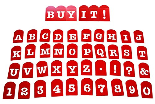 Perfect Brownie Pan Stencil Set of 40 Pieces Including Alphabets, Numbers & Signs. Plastic Letter Stencils, Christmas Gift for Kids, Plastic Stencil Set, The Perfect Kids Gift for any occasion.