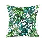 Lisan Tropical Green Marijuana Leaf Pillow Cover Simple Cotton Cushion Pillow Cover
