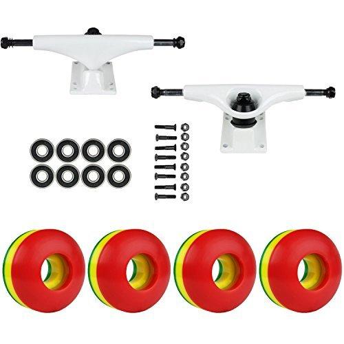 スケートボードパッケージHavocホワイト5.0 Trucks 50 Mm Rasta 3色ABEC 7 Bearings [並行輸入品]   B078WV3QQG