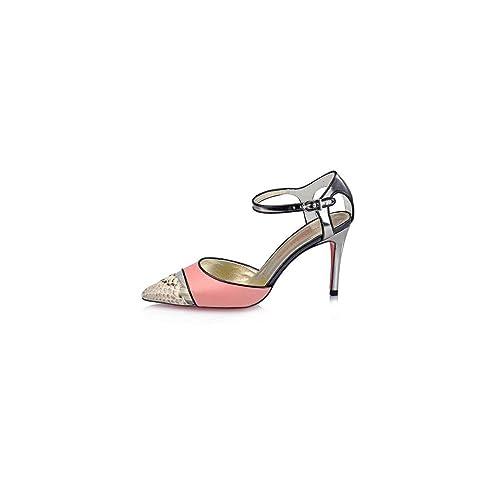 492 Abierto Lucchino Calzado Tacón de Victorio amp; Talla Zapato con Mujer 41 qgnnw8TW7