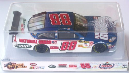 2009 Dale Earnhardt Jr #88 National Guard Blue White Chevy Impala SS 1/24 Scale Car 51st Running of Daytona 500 Winners Circle