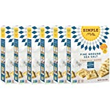 Simple Mills Naturally Gluten Free Almond Flour Crackers, Fine Ground Sea Salt, 6 Count