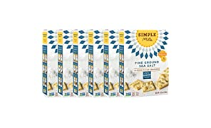 Simple Mills Naturally Gluten-Free Almond Flour Crackers, Fine Ground Sea Salt, 6 Count