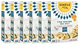 Simple Mills Almond Flour Crackers, Fine Ground Sea Salt, Naturally Gluten Free, 4.25 oz, 6 count