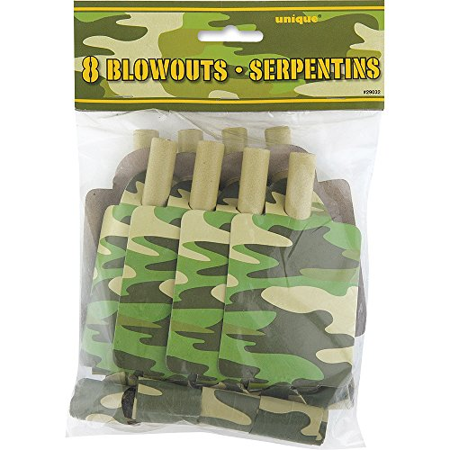 Camo Party Blowers, 8ct ()