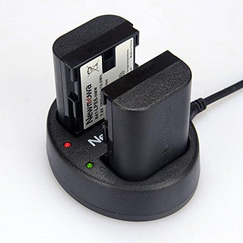 Newmowa Dual USB Charger for Canon LP-E6, LP-E6N and Canon EOS 5DS R, EOS 5DS, EOS 5D Mark IV, EOS 5D Mark III, EOS 5D Mark II, EOS 6D, EOS 7D, EOS 7D Mark II, EOS 60D, EOS 60Da, EOS 70D,EOS 80D,XC10