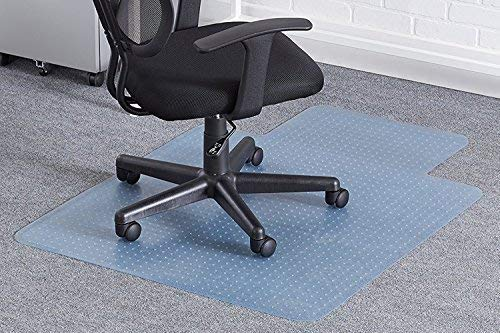 Reliatronic Office Chair Mat for Carpeted Floors, 36''x48'' Desk Chair Mat with Lip, Suitable for Low/Medium Pile Carpet, Transparent by Reliatronic (Image #3)