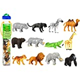 Safari Ltd Wild TOOB With 12 Great Jungle Friends, Including a Giraffe, Brown Bear, Tiger, Camel, Lion, Crocodile, Gorilla, Hippo, Rhino, Zebra, Panther and Elephant
