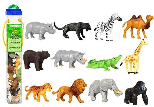 Safari Ltd. Sammelfiguren - Wilde Tiere - 12 Figuren in Tube