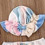Geagodelia-3-Pezzi-Costume-da-Bagno-Neonata-Bambina-Bikini-Set-Estivo-Stampa-FlorealeGelato-Costumi-Mare-Bimba-Beachwear-con-Fiocco-Carino-Elegante
