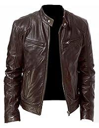 NBENTERPRISES Genuine Men's Brown Leather Bomber Jacket