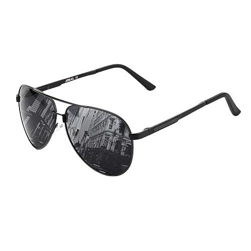 2c8eaec612e Polarized Sunglasses For Men Women Aviator-Vintage Oversized uv Driving( black)