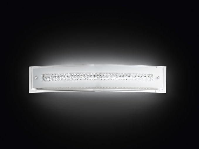 Applique a led in vetro modello 6082 lampada da parete con cristalli