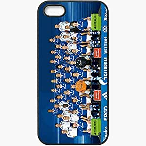 Personalized iPhone 5 5S Cell phone Case/Cover Skin FC Schalke 4 Sport 9373 Black