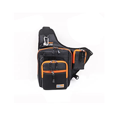 Primebuy Fishing Bags Multi-Purpose Waterproof Fishing Tackle Bag Pack Shoulder Box Reel Lure Storage Canvas Black
