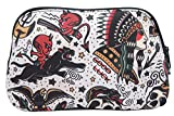 Liquorbrand Classic American Old School Vintage Tattoo Flash Tattoo Art Cosmetic Bag Pouch