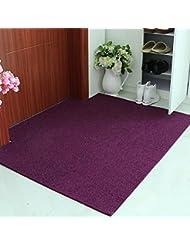 YZGH Minimalist Modern Home Rug Floor Mats Non Slip Mats Foyer Rub The Soil  Mat , Purple , 80120cm