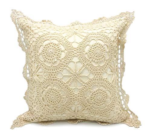 Fennco Styles Handmade Crochet Lace Cotton Tablecloth (17