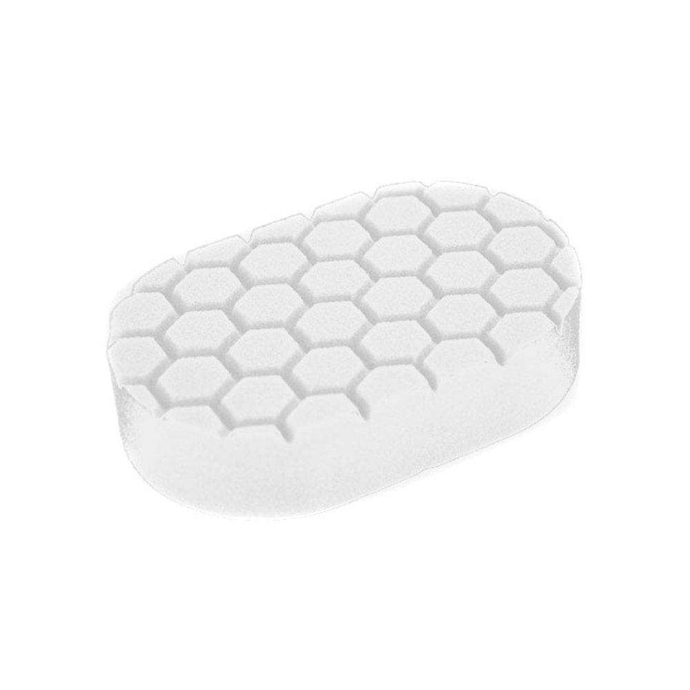 Chemical Guys BUFX_202 Hex-Logic Polishing Hand Applicator Pad, White (3 in. x 6 in. x 1 in.)