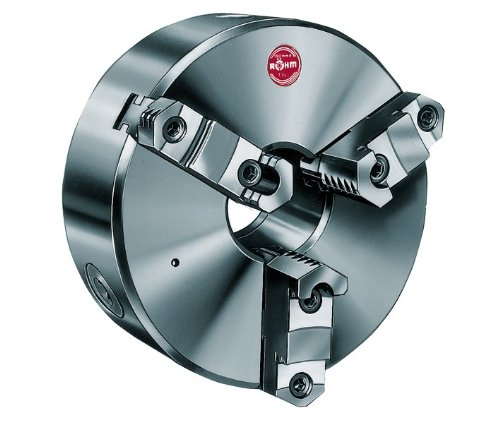 D1-8 Camlock Spindle Mount R/öhm ZSU-400-3 Steel Self-centering Lathe Chuck with 3 Base and Reversible Hard Top Jaws Pack of 1 16 Size