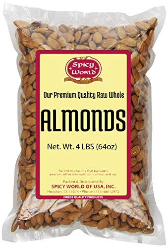 Spicy World Almonds Whole (Natural and Raw),