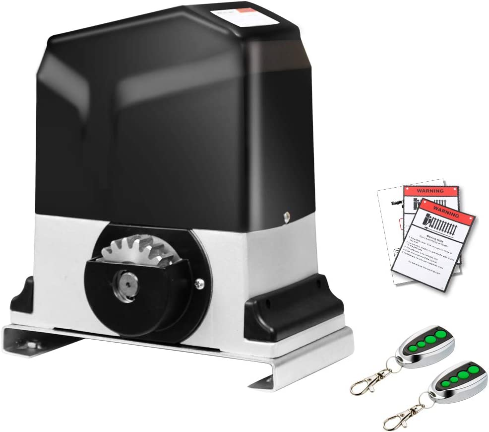 TOPENS RK1200 Automatic Sliding Gate Opener Kit Heavy Duty Sliding Gate Motor for Slide Gates Up to 3400 Pounds and 40 ft Rack Driven Driveway Security Slide Gate Operator