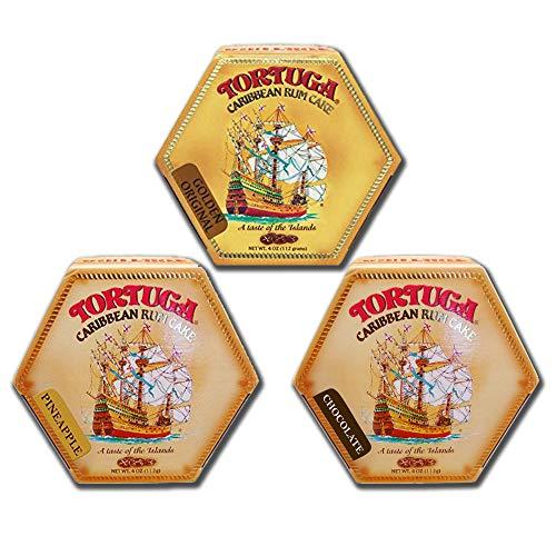 Tortuga Rum Cakes 4 Oz (3 Pack) - Golden - Rum Bay Caribbean