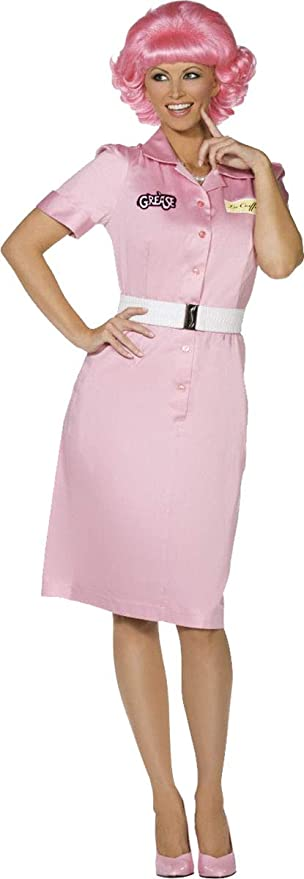 1950s Costumes- Poodle Skirts, Grease, Monroe, Pin Up, I Love Lucy Ladies Fancy Dress Party Grease Frenchy Beauty School Drop Out Costume $102.99 AT vintagedancer.com