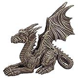 Cheap Design Toscano Desmond the Dragon Gothic Decor Statue, 16 Inch, Polyresin, Greystone