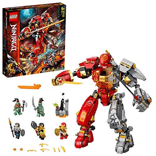 LEGO 71720 NINJAGO RobotRocollameante, Figura de Acción Ninja, Juguete de Construcción con 5 Mini Figuras
