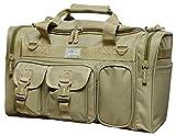 Cheap 18″ Tactical Duffle Military Molle Gear Shoulder Strap Range Bag TF118 TAN